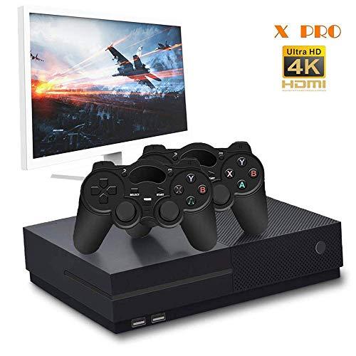 CXYP Retro Spielekonsole, 4K HDMI 32 GB Video Spielkonsole, 800 Classic Spielekonsole mit 2 Joystick (Schwarz)