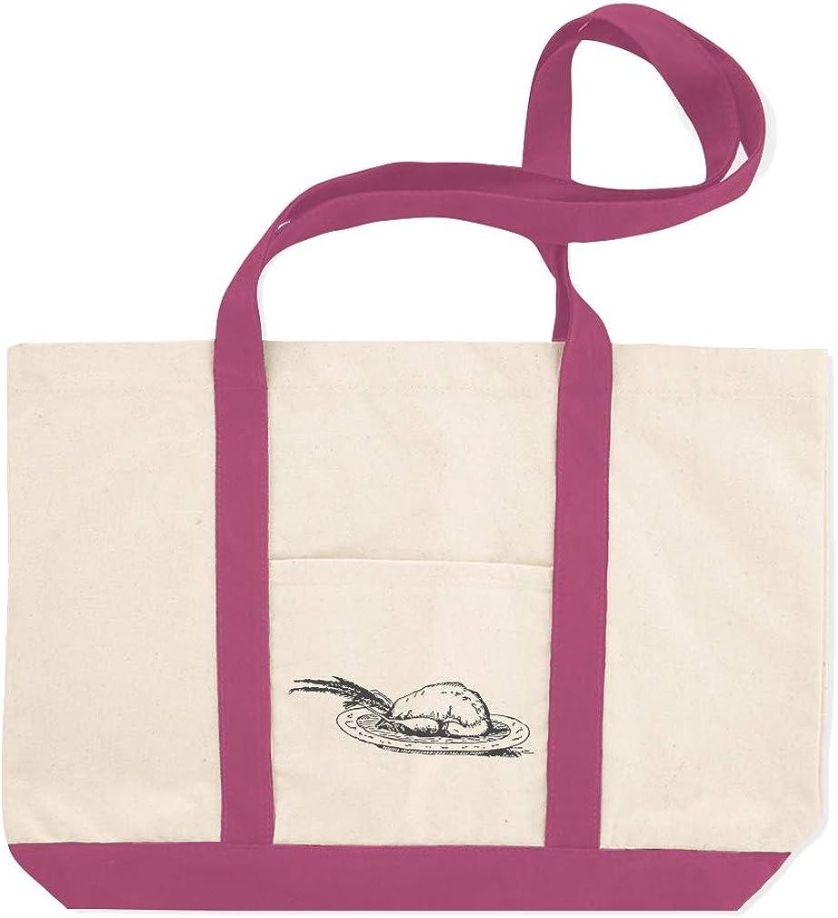 Canvas Shopping Tote Bag Roast Pheasant Vintage Look Food & Beverage Meats Beach for Women