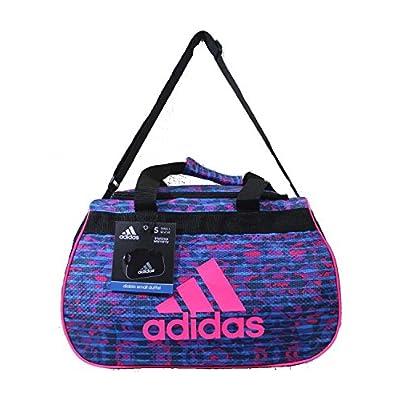 80f3a0eae4 70%OFF Adidas Diablo II Small Duffel Gym Bag Pebbles Solar Blue Solar Pink