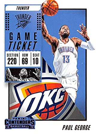 84b8e79f2bc 2018-19 Panini Contenders Game Ticket Blaster Exclusive Red Basketball  63  Paul George Oklahoma