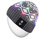 Rotibox LED String Light Up Beanie Hat Knit Cap with Copper Wire Colorful Lights 4 feet 18 LEDs for Men Women Indoor and Outdoor, Festival, Holiday, Celebration, Parties, Bar, Black