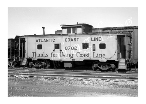 (Atlantic Coast Line caboose #0782 5x7