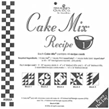 """Cake Mix Reciipe #1 ~44 Recpe Cards make 180 - 4"""" finished half square triangles"""