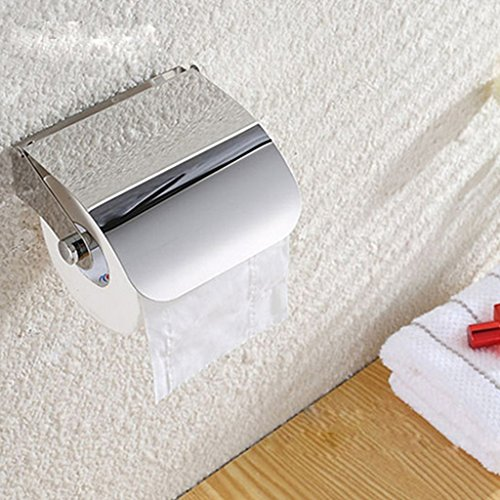 Generic Wall Mounted Silver Bathroom Toilet Paper Holder Paper Roll Holder Storage Box Central Fold Hand Paper Dispenser, Stainless Steel cheap