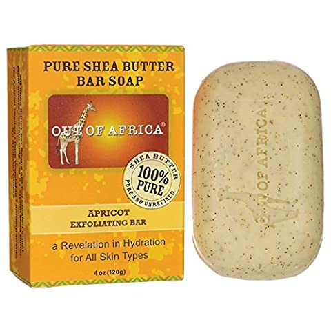 Out Of Africa Apricot Exfoliating Shea Butter Bar Soap, 4 Ounce Boxes - Bar Apricot