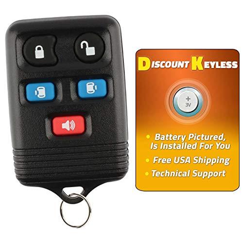 Discount Keyless Replacement Key Fob Car Entry Remote Compatible with Ford Windstar CWTWB1U511, CWTWB1U551