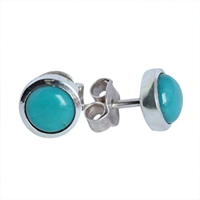57d59513f Amazon.com: Natural Arizona Turquoise Gemstone Silver Earring 925 Sterling Silver  Stud Earring For Girls Jewellery 274: Jewelry