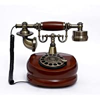 Ryu Antique European-style telephone rotary dial vintage fashion dial telephone phone home phone Red