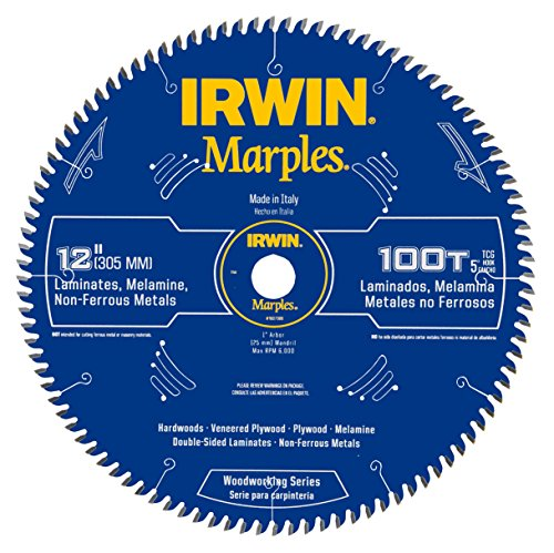 Irwin Tools  1807386 Marples Laser Cut 12-Inch 100-Tooth Triple Chip Grind Tooth Bevel Circular Saw Blade (Trash Compactor 12 Inch)