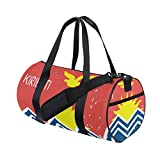 Distressed Kiribati Flag Travel Duffel Shoulder Bag ,Sports Gym Fitness Bags