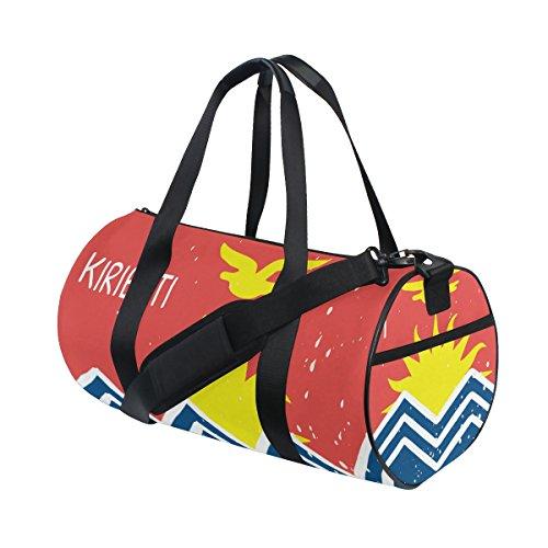 Distressed Kiribati Flag Travel Duffel Shoulder Bag ,Sports Gym Fitness Bags by super3Dprinted