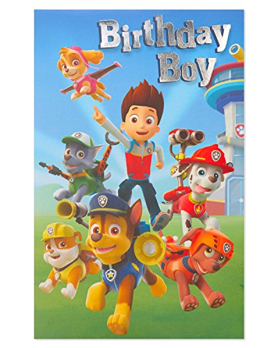 American Greetings Paw Patrol Birthday Card for Boy with Foil