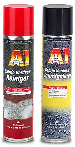 DR. WACK 1x A1 Cabrio Verdeck Reiniger 400 ml & 1x Imprä gnierer 400 ml