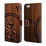 Official Nicklas Gustafsson Wooden Anchor Textures Leather Book Wallet Case Cover For Apple iPhone 5 / 5s / SE