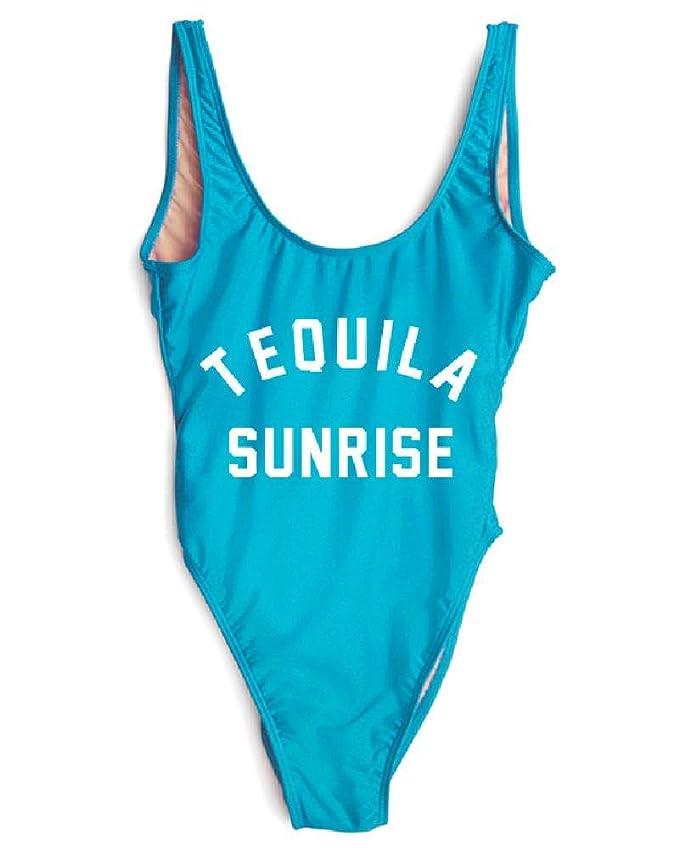 164983986b Amazon.com: HK One Piece Swimsuit Tequila Sunrise Swimwear Sexy Bodysuit  Summer Jumpsuits Maio Beachwear: Clothing
