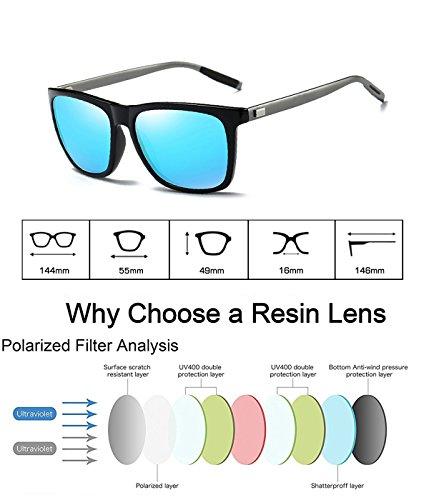 WP2003 Clásico para Gafas Protección de Retro Mujer Azul B wearPro Hombre UV400 Polarizadas Wayfarer y Negro Sol Bq4SO