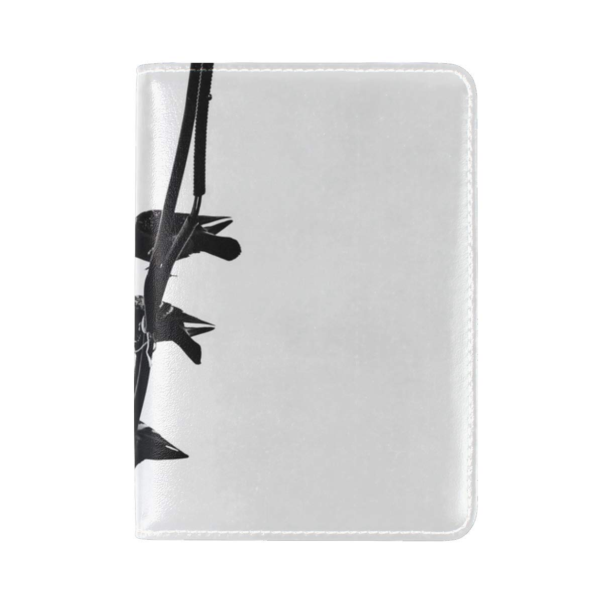 Pigeons Birds Wire Leather Passport Holder Cover Case Travel One Pocket