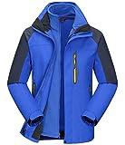#7: Cokle Men's Mountain Waterproof Fleece Ski Jacket 2 Piece Hoodie Warm Suit Tech Jacket