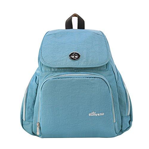 Bolso de la momia, bolso de múltiples funciones de la mamá de gran capacidad, bolso de la madre de los hombros, va el morral, bolso de la madre de la manera ( Color : Verde ) Azul