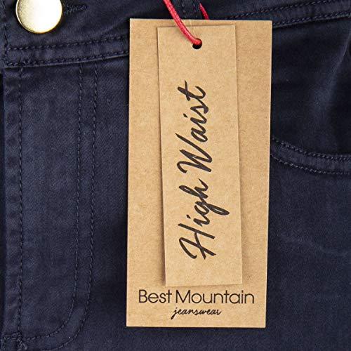 Jean Femme Best Taille Mountain Fonce Haute Bleu 5FzzIR71