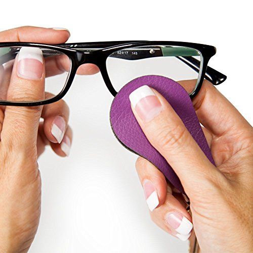 New Microfiber Cleaning Cloth with Ultra-Fresh Antimicrobial Product Protection for Clean Eyeglass Lenses; Gwee Guppy Keyring in Purple, 2pack; Eyeglasses Cleaner Keychain, Lens Cleaner Wipes; For Sun glasses, Eyeglasses, Cell phones, Tablets, Laptops,