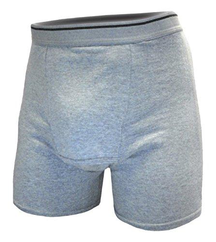 29 Heather (A50 Dri-Jock Incontinence Underwear Washable Boxer Brief for Men,Heather Gray,Small / 28-30)