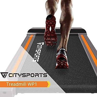 CITYSPORTS Tapis de Course Pliant, Fitness Bureau/Domicile, Tapis de Marche Electrique 1-6 km/h, Facile à Déplacer et à…