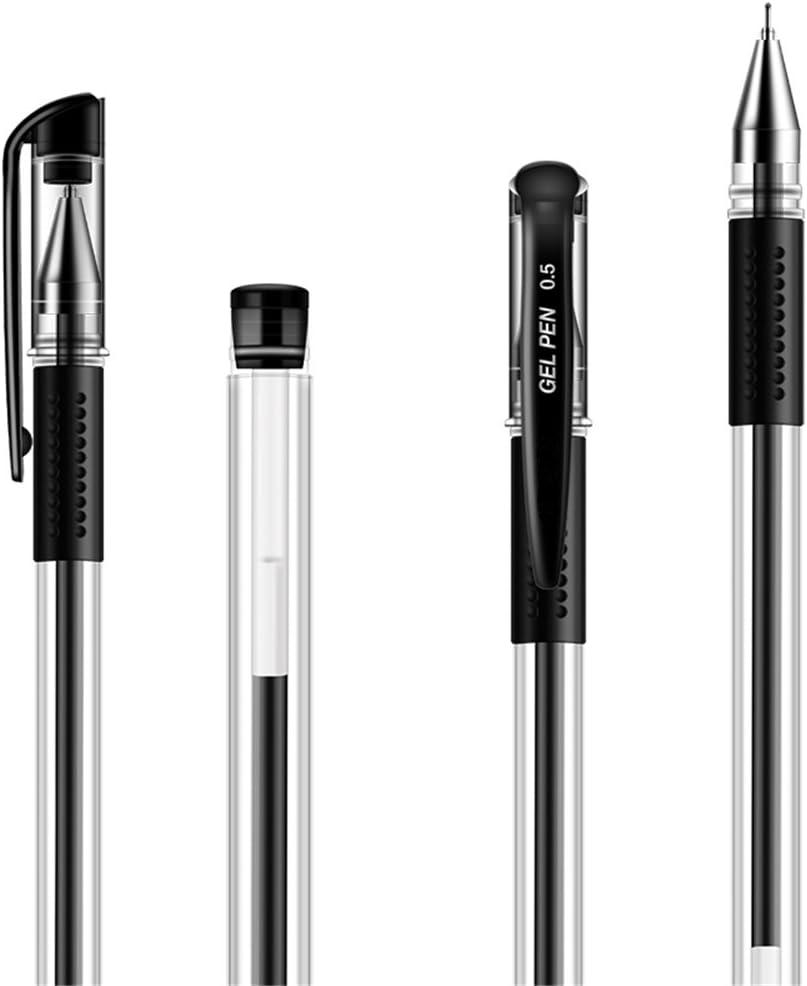 Newdoer confezione da 12 penna a sfera extra fine punta da 0,5 mm colore: nero Black larghezza della linea 0,3 mm