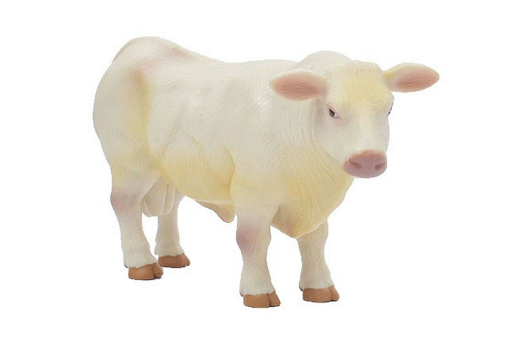 Realistic Bull 1//16th Scale Little Buster Toys Charolais Bull