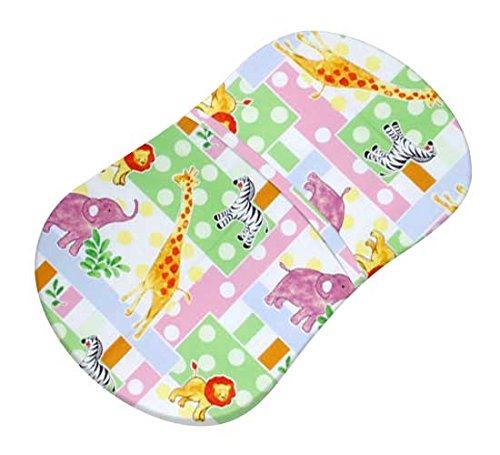 SheetWorld Fitted Bassinet Sheet (Fits Halo Bassinet Swivel Sleeper) - Jungle Animals & Dots - Made In USA