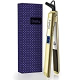 Dnsly Flat Iron Hair Straightener, 2-in-1 Hair Straightener And Curling Iron With 1