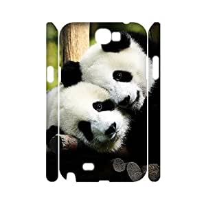 Panda Phone Case For Samsung Galaxy Note 2 N7100 [Pattern-1]