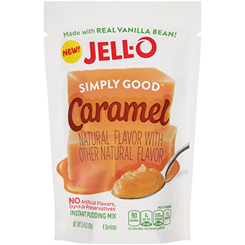 Jell O Simply Good Caramel Instant Pudding Mix  3 4 Ounce  Pack Of 12