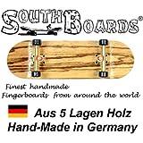 EDEL Fingerskateboard ZEBRA/GO/SWZ SOUTHBOARDS® Handmade Wood Fingerboard Echtholz