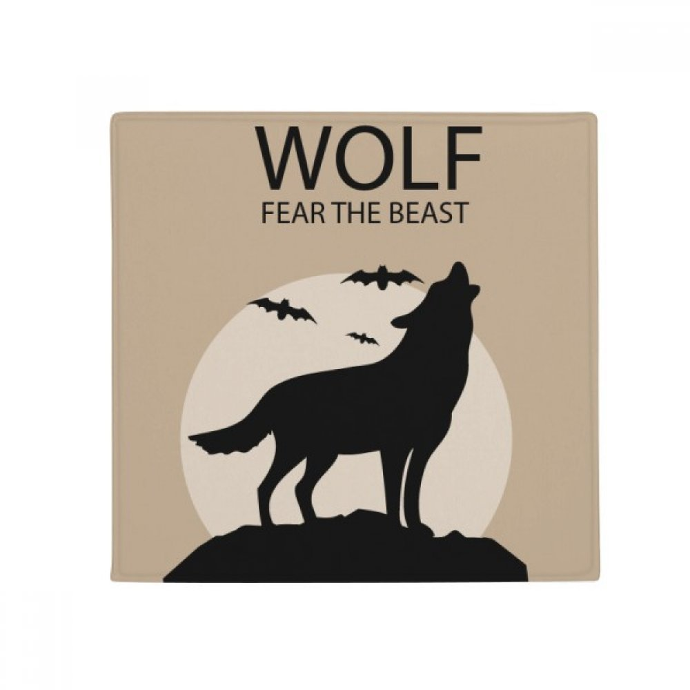 DIYthinker Wolf Ghost Fear Halloween Pumpkin Anti-Slip Floor Pet Mat Square Home Kitchen Door 80Cm Gift