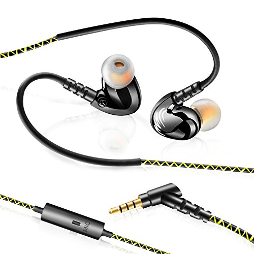 simptech sports headphones earbuds with microphone