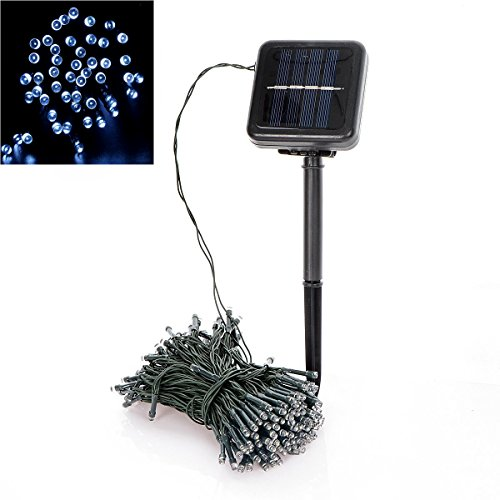 Solar String Lights,Saim 200 Led Holiday String lamp solar string lamp waterproof for Outdoor Indoor Garden Patio Lawn Landscape Xmas Tree Wedding Decoration (Waterproof Roof Patio)