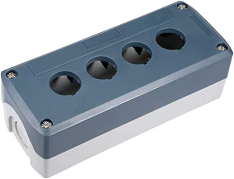 sourcing map Interruptor de botón de la Caja de Puesto de Control de 4 Botones de 22mm Agujero Blanco y Gris.: Amazon.es: Deportes y aire libre