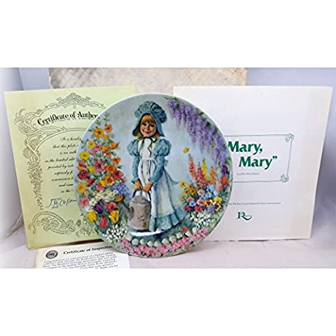 Bradford Exchange Mary Mary 1st issue in Mother Goose Nursery Rhyme Series Collector's Plate - Issue Collectors Plate