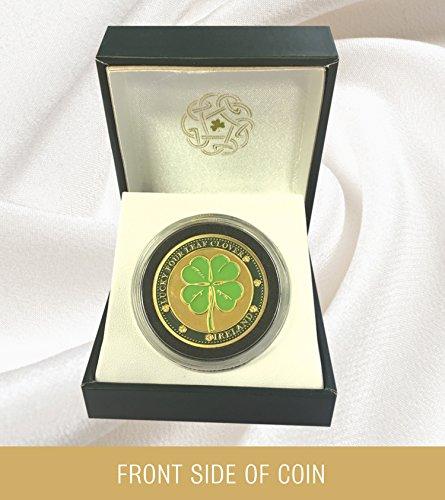 Lucky Four Leaf Clover Coin - Celtic Lucky Four Leaf Clover Collectors Coin