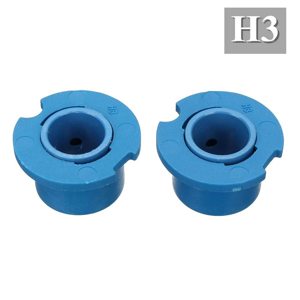 difcuyg5Ozw 2Pcs LED Headlight Lamp Bulb Base Adapter Sockets,Easy to Install Durable Retainer Holder 880 HB4 HB3 H4#