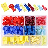 Hilitchi 120pcs Nylon Fully Insulated Male Spade Terminals and Quick Splice T-Tap Electrical Wire Connector Assortment Kit