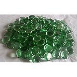 100g Glass Pebbles Sample Light Green 20mm (approx 23)