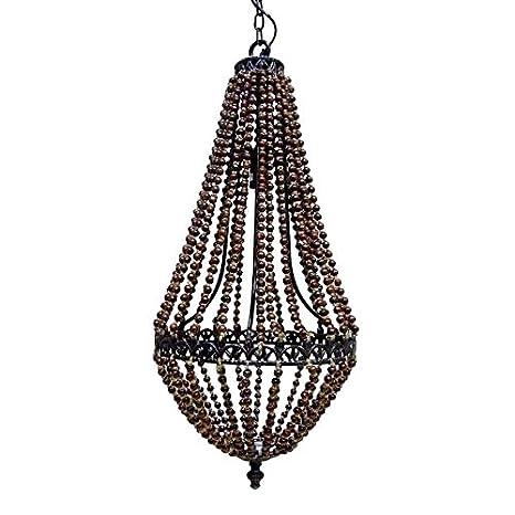 Better & Best Lámpara de techo con 1 luz, con bolas de madera oscura,