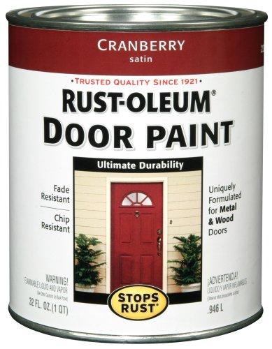 Rust-Oleum 238314 Door Paint, Cranberry, 1-Quart (Best Way To Paint A Metal Door)
