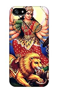 Cynthaskey Iphone 5/5s Hybrid Tpu Case Cover Silicon Bumper Happy Navratri Day