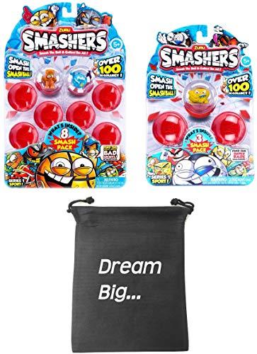 Smashers Zuru Bundle Includes (1) Smash Ball 8 Pack + (1) Smash Ball 3 Pack with Compatible Toy Storage Bag!