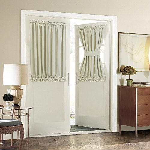 Blackout French Door Curtain for Privacy - Aquazolax Soft Fabric Door Curtain 54x40-Inch Solid Window Drapery - 1 Panel Light Saga Beige & Front Door Curtain: Amazon.com Pezcame.Com