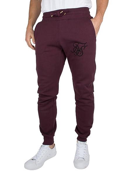 Sik Silk Hombre Joggers logotipo estándar, Rojo, X-Large: Amazon ...