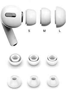 Xiaozxwlhq Earpods Covers Tips for Apple AirPods Pro, Fit in The Charging Case,3 Pairs (Small, Medium, Large) (White)